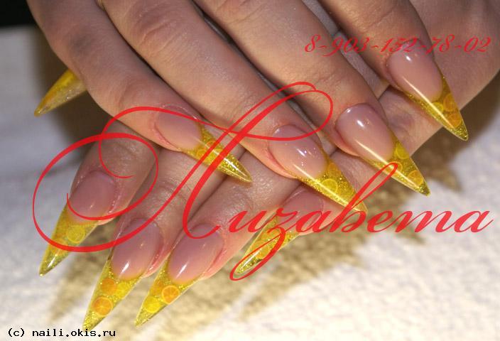 Бульонки дизайн ногтей